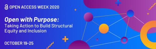 Open access week 2020 official banner