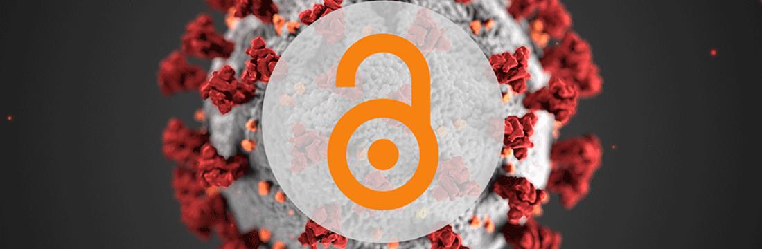 Open access week blog header: image of coronavirus under microscope with open access lock1