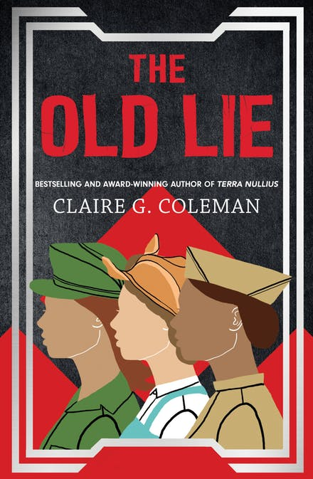 "Illustrated image of ""The Old Lie"" bookcover"