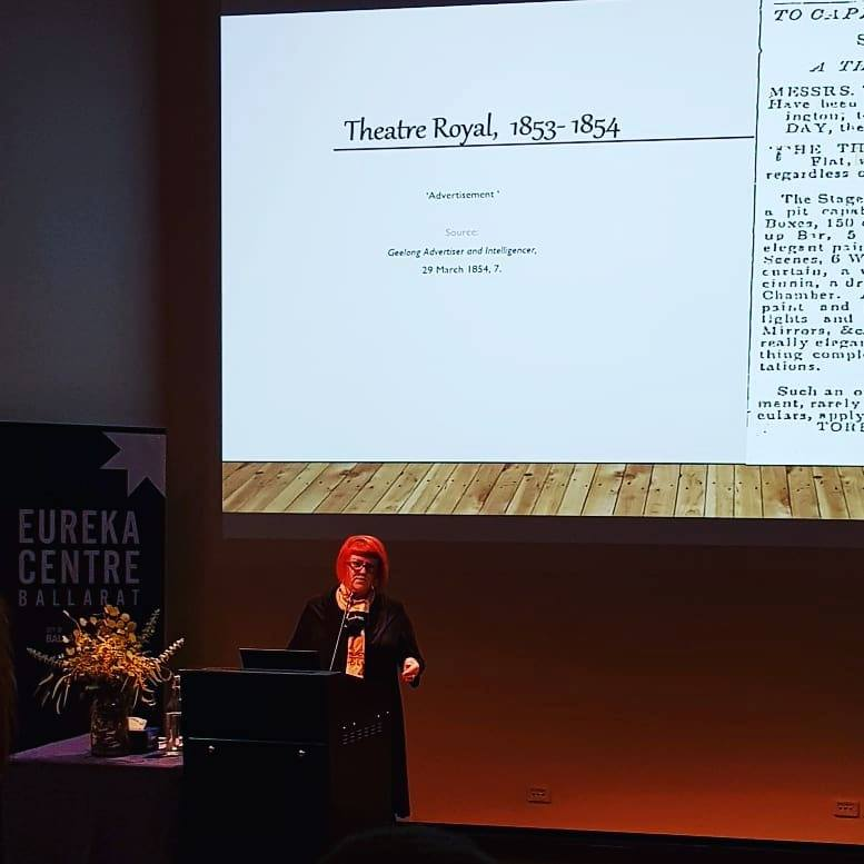 Ailsa du Bois presenting her research at the inaugural Talking History @ Eureka series