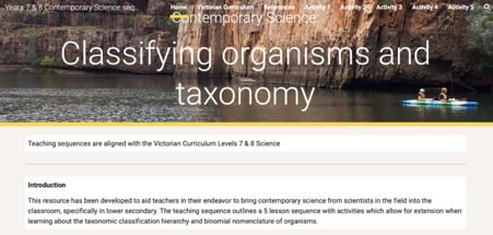 Classifying Organisms and Taxonomy