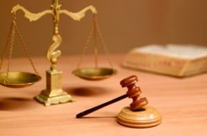 scales of justice & judicial hammer