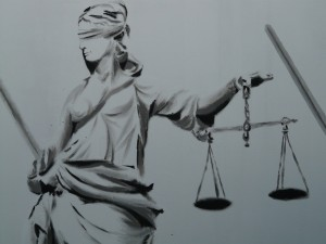 Lady Justice B:W