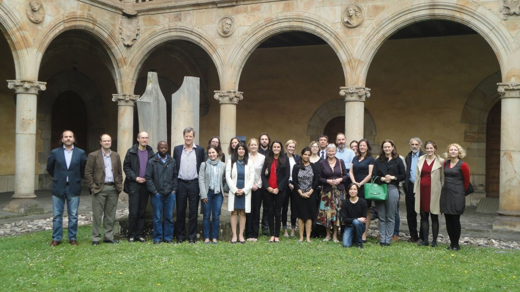Dr Kate Fitz-Gibbon (centre, red top) and other delegates at the Onati workshop.