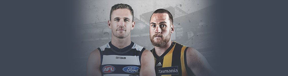 Geelong and Hawthorn AFL players