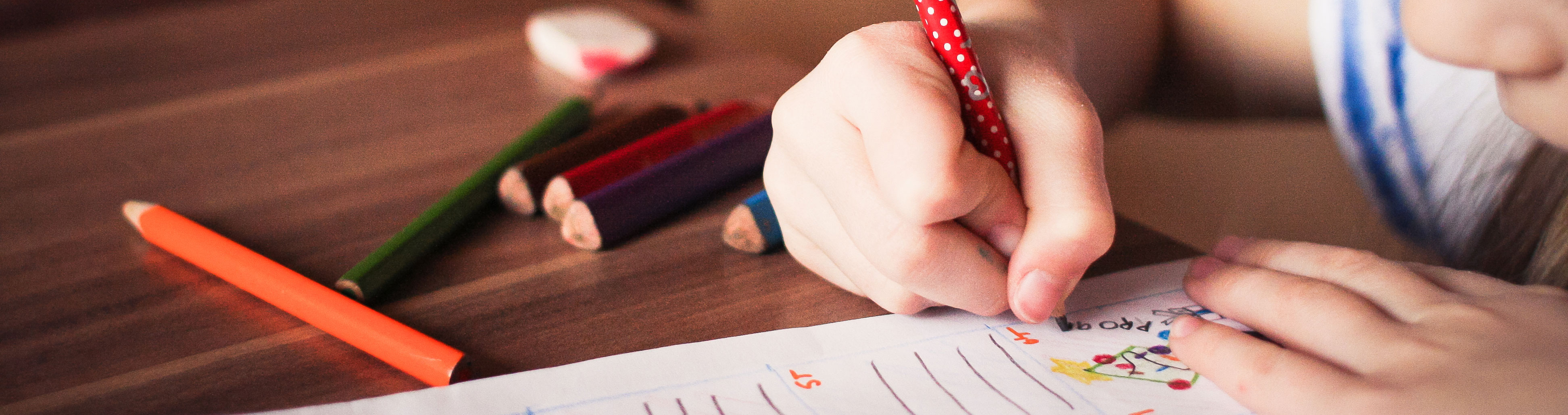 A child writes a letter