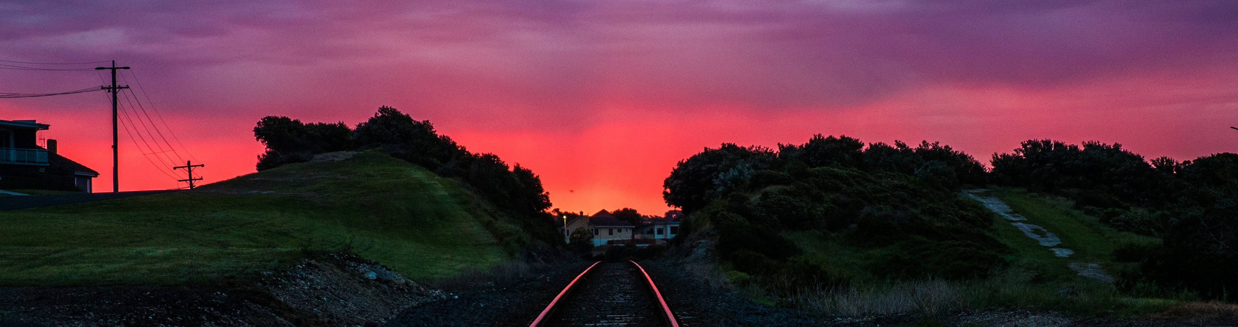 Red sky over Warrnambool