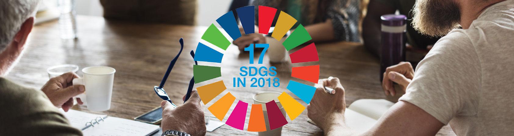 The UN SDGs logo