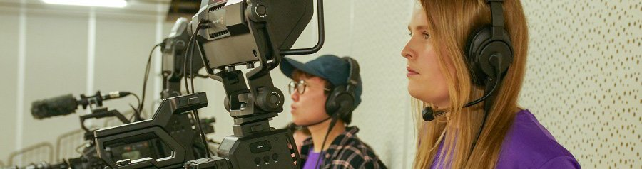 Film and TV students live-streaming
