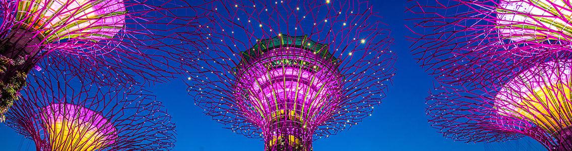 Nighttime view of Singapore