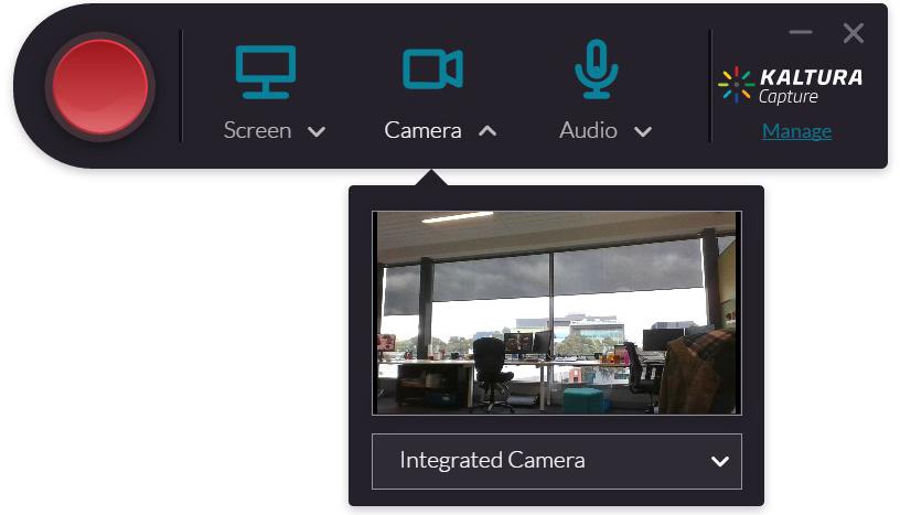 kaltura screen capture interface