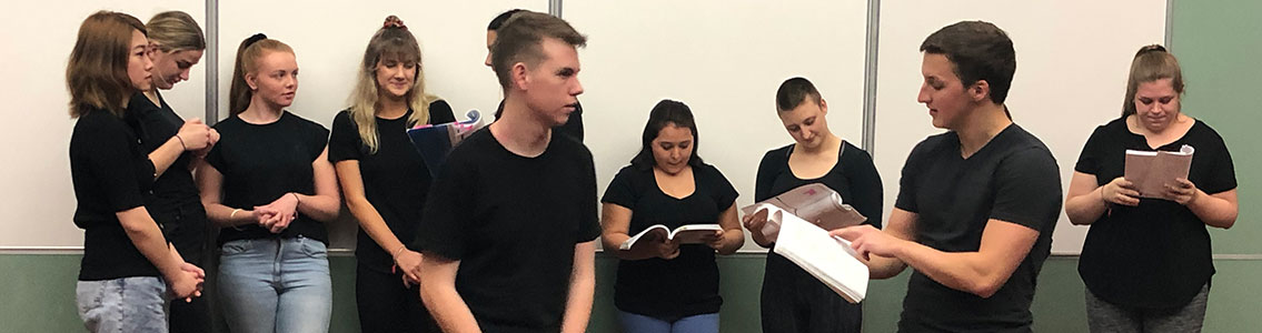 Deakin residents rehearse Mary Poppins.