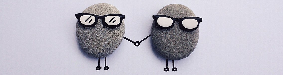 Pet rocks holding hands