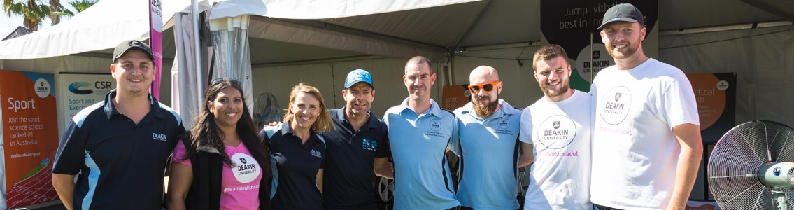 cadel evans with deakin staff