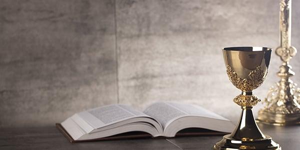 Catholic Bible and Chalice