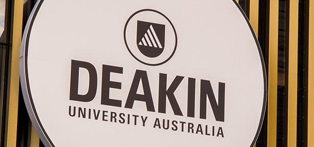 Deakin sign on building