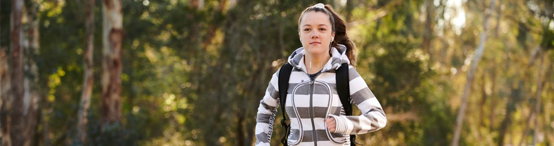 Student jogging through bushland1
