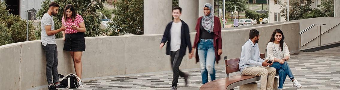 Students on Burwood Campus