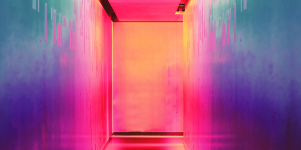 colourful abstract art of a doorway