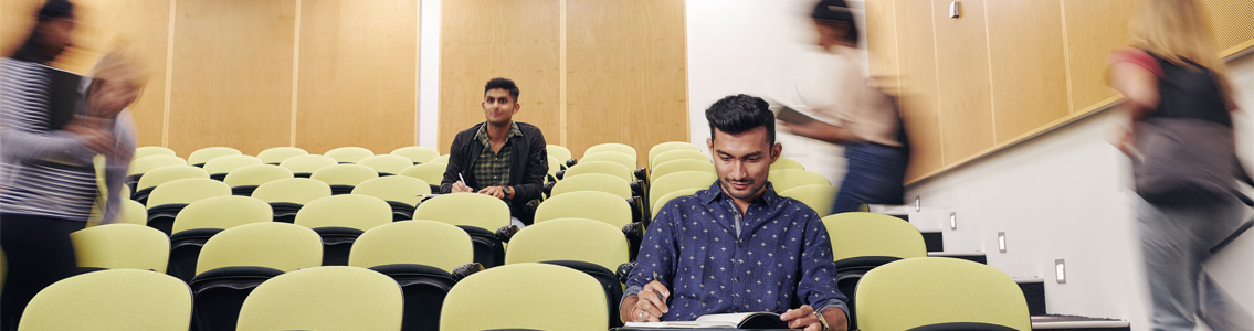 students in Deakin lecture theatre