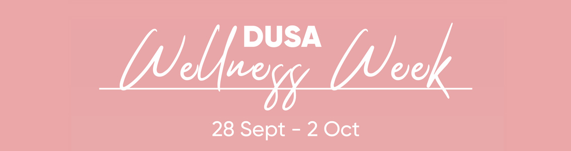 DUSA Wellness Week banner
