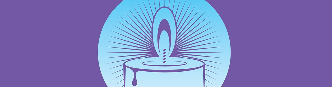 Illustration of a candle for Transgender Day of Remembrance