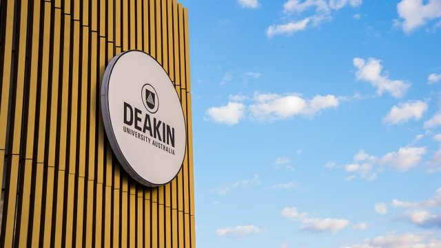 Deakin sign on building