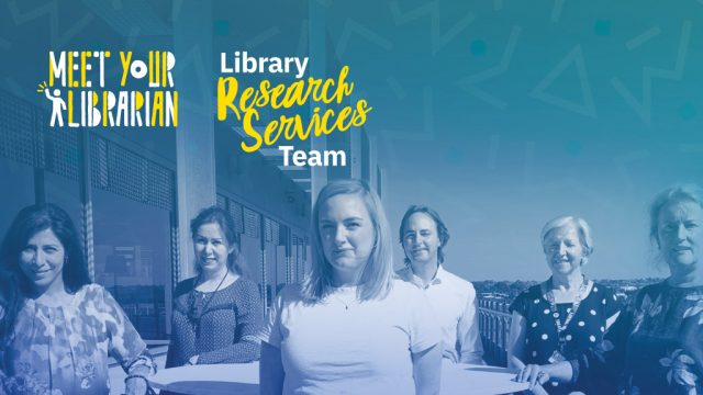 Deakin Library's Research Services team