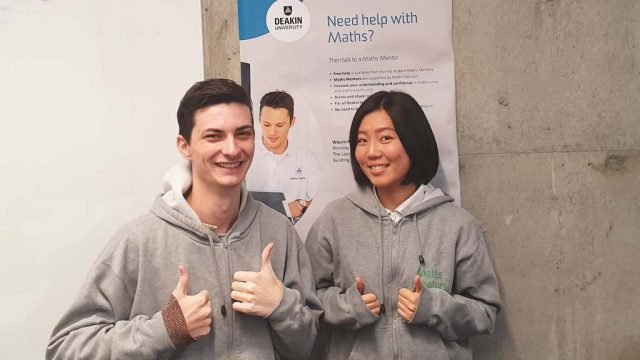 Senior Maths Mentor Daniel Coomber and Sylvia Hsueh