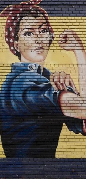 Strong Woman Graffiti wall