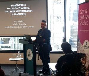 Quinn Eades speaks at first Friday seminar series Deakin