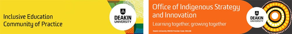 Inclusive Education Community of Practice and Office of Indigenous Strategy and Innovation logos