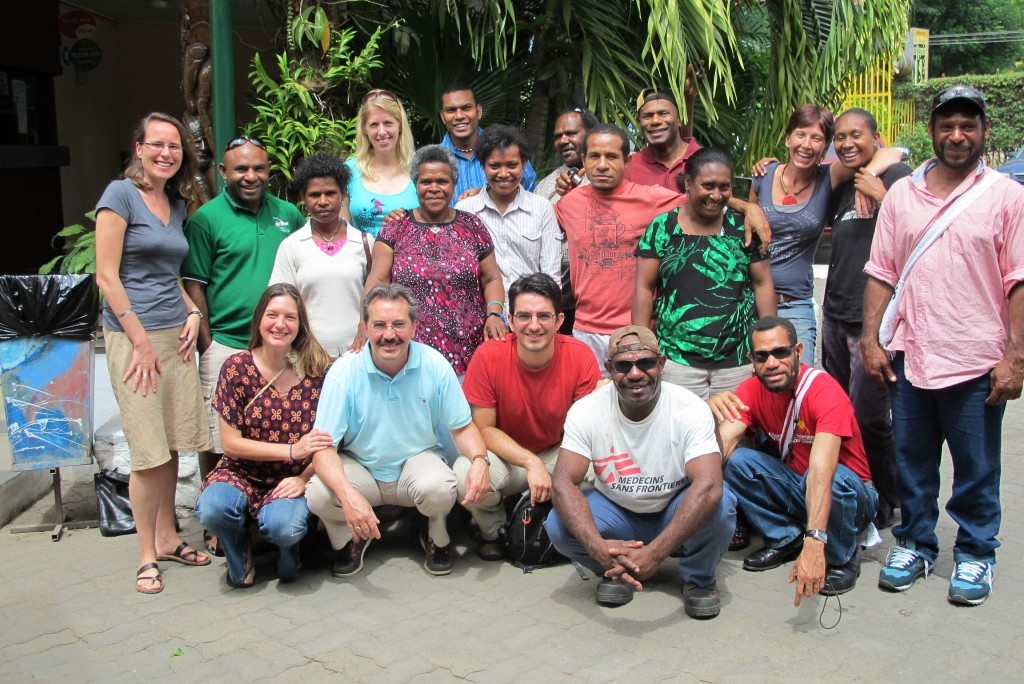 Elvina with her colleagues in PNG