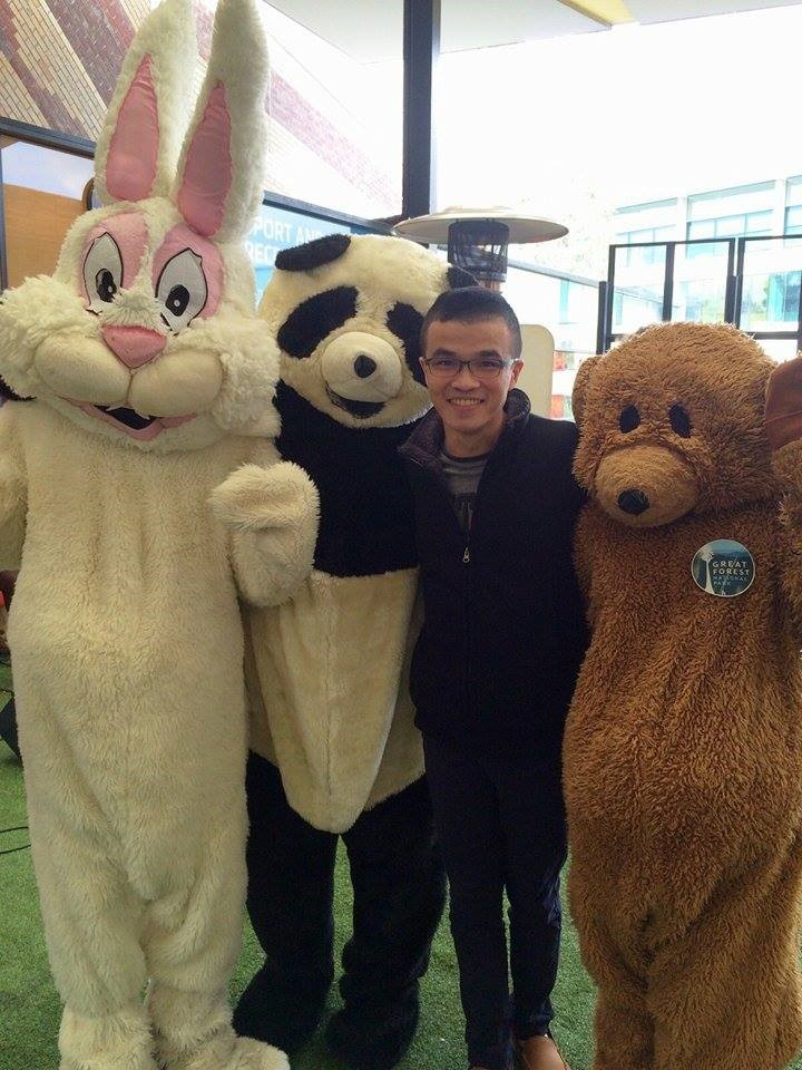 Ivan at Deakin's Orientation Week where he was welcomed to the University