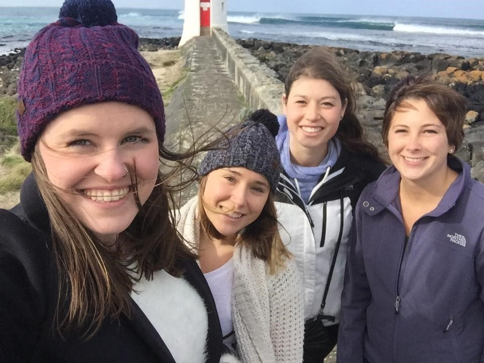 Image of Samantha with friends at Port Fairy