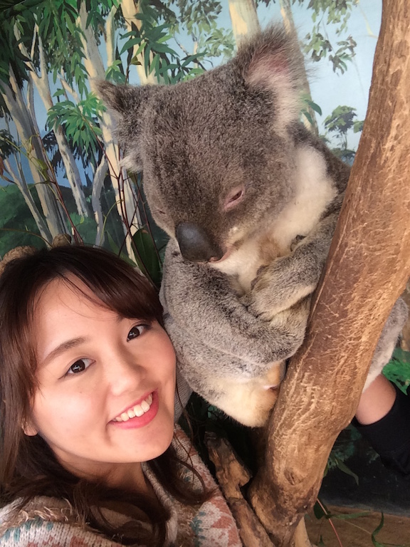 Nanako with koala
