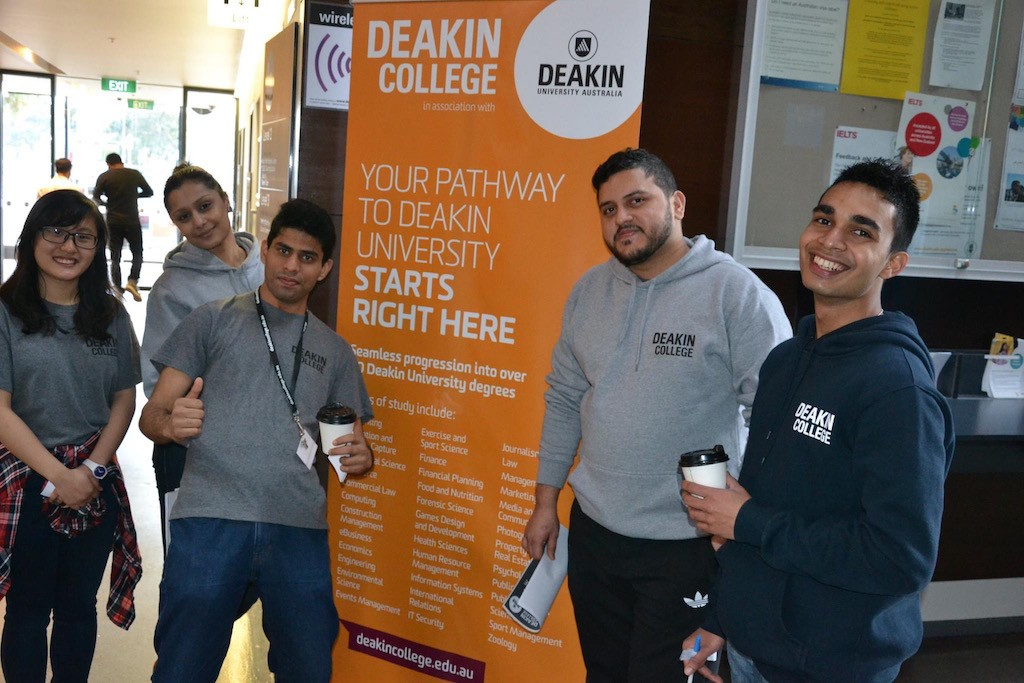 With other Deakin College