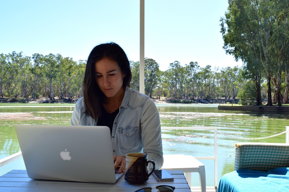 'Working remotely' on the Murray River