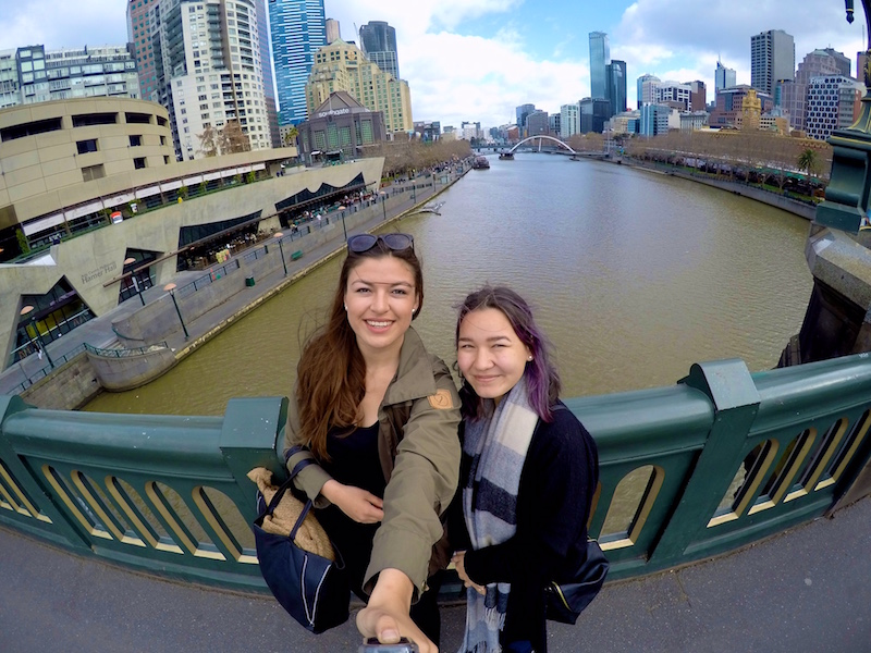 And here she is! Now in Melbourne, Tupaarnaq is pictured with a friend, overlooking the Yarra River in Melbourne's CBD