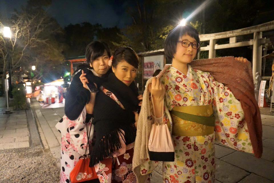 Kinomo-Japanese tradition dressing night, Kyoto Japan