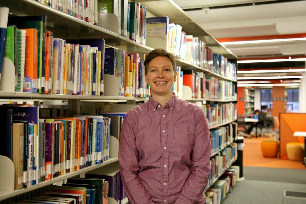 At the Geelong Waterfront Campus Library
