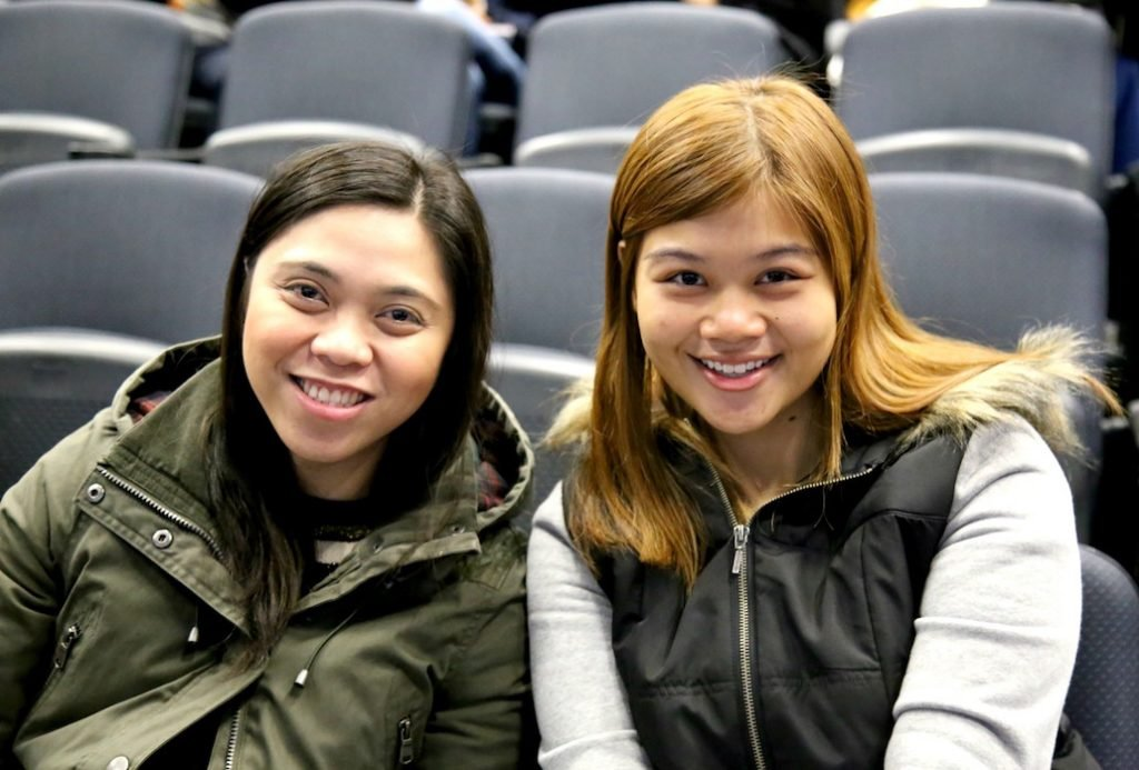 Gay Marie Cosmiano (left) and Qistina Khairi Wong (right) at the introductory session