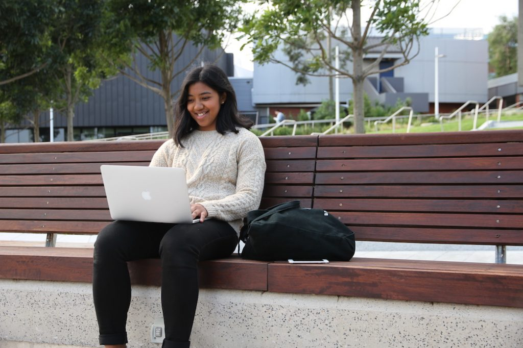 Studying on campus