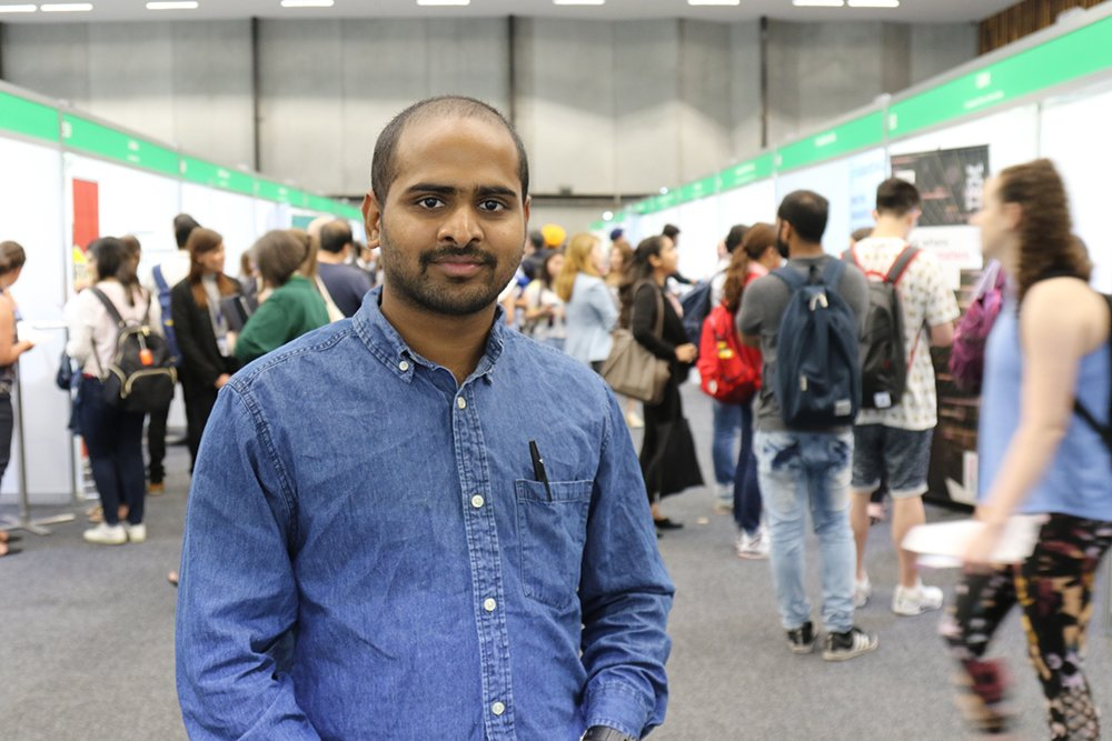 Bachelor of Commerce student Jayaram found the expo 'very helpful'.