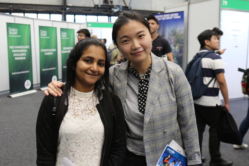 Recent graduates Reshma and Lexi