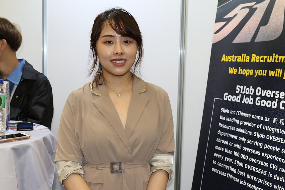 Cassie Li from Chinese recruitment company 51job.
