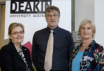 Vice Chancellor Professor Sally Walker, Professor Russell Tytler and Dr Coral Campbell at the forum