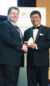 Associate Professor Kieran Lim, OLT Teaching Excellence Award 2014.