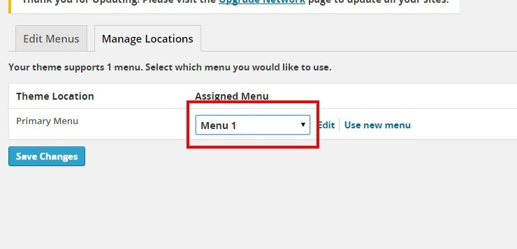 Menus ‹ Deakin University Blogs — WordPress3